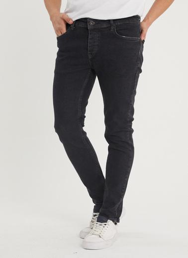 XHAN Siyah Slim Fit Jean Pantolon 1Kxe5-44354-02 Siyah